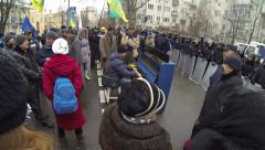 Riots in Ukraine - The Camp of the strikers. Stock Footage