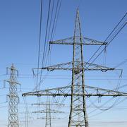 Electricity pylons energy power Stock Photos