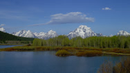 Stock Video Footage of OXBOW BEND – MOUNT MORAN AND TREES # 2