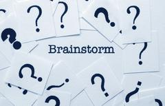 Brainstorm concept Stock Photos