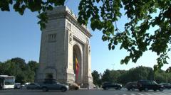 Arcul de Triumf (Arch of Triumph) Stock Footage