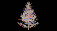 Christmas tree with alpha Stock Footage