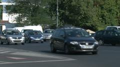 Heavy traffic in Bucharest Stock Footage