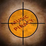 music piracy target - stock photo