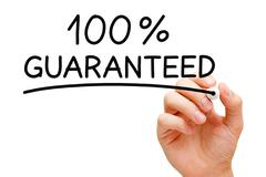 guaranteed 100 percent - stock illustration