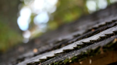 Black wooden roof shingles Stock Footage