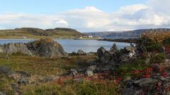 Small norwegian village 2 Stock Footage
