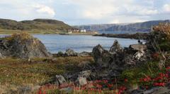 Small norwegian village 3 Stock Footage