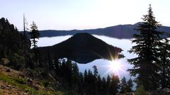 Crater Lake National Park Wizard Island Oregon USA - stock photo
