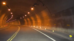 driving fast in the tunnel time lapse - stock footage