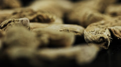 Food dry ginger root Stock Footage