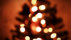 CHRISTMAS TREE DECORATION PANORAMIC Stock Footage