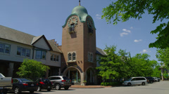 LAKE FOREST, IL – CLOCK TOWER (PAN) # 2 Stock Footage