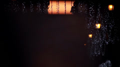 CHRISTMAS DECORATIONS STREET Stock Footage