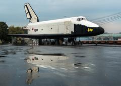 buran - soviet space ship - stock photo