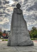 karl marx monument, moscow - stock photo