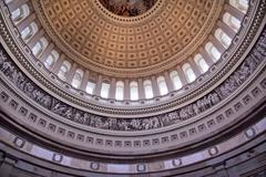 Us capitol dome rotunda inside washington dc Stock Photos