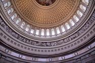 Stock Photo of us capitol dome rotunda inside washington dc