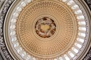 Stock Photo of us capitol dome rotunda apothesis george washington dc