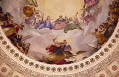 Stock Photo of us capitol dome rotunda apothesis george washington dc