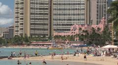 Oahu - Hawaii - USA - Honolulu - Waikiki Beach - HD Stock Footage