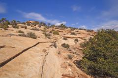 Red rock ridge in the southwest Stock Photos