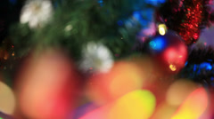 Ribbon on Christmas gifts Stock Footage
