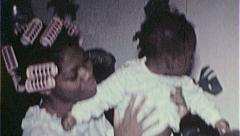Black TEENAGE MOTHER BABY African American 1970s  Vintage Film Home Movie 7409 Stock Footage