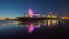 Santa Monica Pier Time Lapse - stock footage
