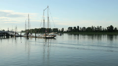 Steveston Harbor Schooners Stock Footage