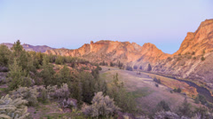 Smith Rocks Time Lapse Sunset Stock Footage