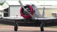Stock Video Footage of AT-6 Texan Taxiing
