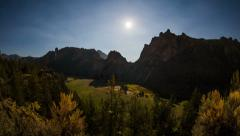 Smith Rocks Time Lapse Stars and Moon Stock Footage