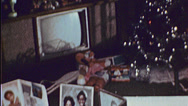 Stock Video Footage of XMAS CHRISTMAS Tree African American Black 1970s  Vintage Film Home Movie 7411