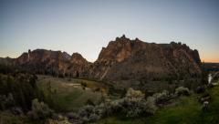 Smith Rocks Time Lapse Sunrise Stock Footage
