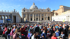 Pope Francis Wednesday Papal Audience at St Peters 41 Stock Footage