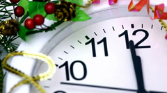 New Year's countdown Stock Footage