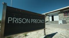 Robben Island signboard Stock Footage