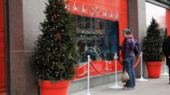 The Bay Toronto At Christmas Stock Footage