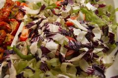Red cabbage salad. Stock Photos