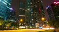 Modern city street at night, timelapse in motion Footage
