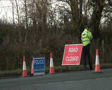 Road Closure after a Traffic Accident Stock Footage