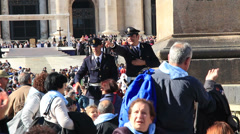 Pope Francis Wednesday Papal Audience at St Peters 44 Stock Footage