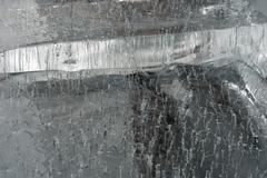 big translucent ice blocs in the sunshine - stock photo