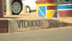 Graffiti on a sidewalk Stock Footage