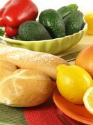 low-fat continental breakfast - stock photo