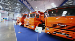 Kamaz trucks at 13th International Specialized Exhibition Stock Footage