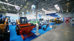 Building machines at 13th International Specialized Exhibition Stock Footage