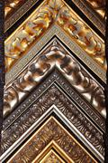 several frames richly decorated with ornament and gold - stock photo