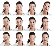 Diferent expressions Stock Illustration